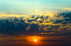 Magic sunrise Royalty Free Stock Photos