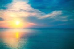 Magic sunrise. Over the sea Stock Photo