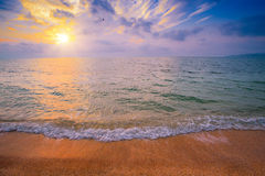 Magic sunrise over sea Stock Photography