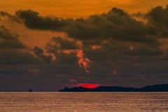Magic sunrise on a tropical island Koh Samui, Thailand Royalty Free Stock Photo