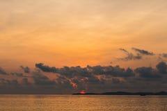 Magic sunrise on a tropical island Koh Samui, Thailand Stock Images