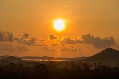 Magic sunrise on a tropical island Koh Samui, Thailand Royalty Free Stock Images