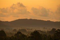 Magic sunrise on a tropical island Koh Samui, Thailand Stock Photos