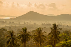 Magic sunrise on a tropical island Koh Samui, Thailand Stock Photo