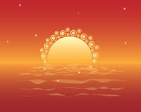 Magic sunset Royalty Free Stock Images