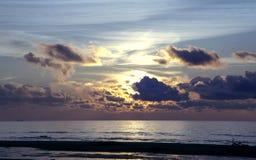 Magic sunset above the Baltic sea Stock Photo
