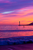 Magic Sunset in Cannes, Cote d'Azur, France Royalty Free Stock Image