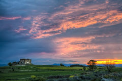 Magic sunset. Sunset landscape from Navarra Spain Royalty Free Stock Photography