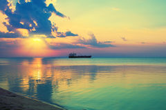 Magic sunset over the sea Royalty Free Stock Photo