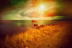Magic sunset over sea Royalty Free Stock Photo