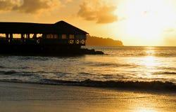 Magic sunset stock photography