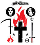 Magic symbols Stock Image