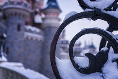 Magic Thorugh the Loop. A beautiful picture of a snowy castle Royalty Free Stock Photo