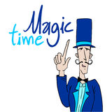 Magic time message Royalty Free Stock Images
