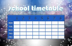 Magic timetable Stock Photography