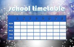 Magic timetable stock photography