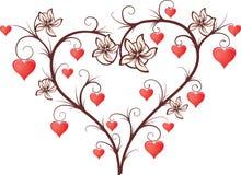 Magic tree with hearts Royalty Free Stock Photo
