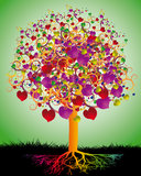 Magic Tree of Love Royalty Free Stock Photography