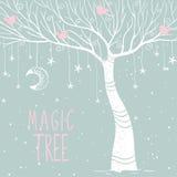 Magic tree night Stock Photography