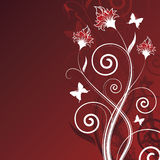 Magic tree on red background Stock Photos