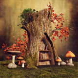 Magic tree stump royalty free illustration