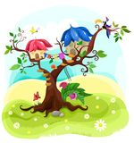 Magic tree. Vector illustration with a magic tree Stock Photos