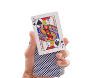 Magic Trick. This is Your Card ( Magic Trick royalty free stock image