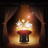 Magic Trick Background vector illustration
