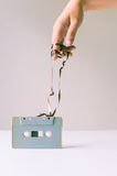 Magic trick over cassette tape Stock Photography