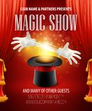 Magic trick, performance, circus, show concept Stock Photography
