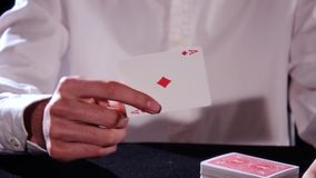 A magic trick stock footage