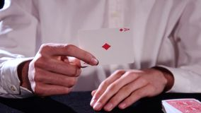 A magic trick stock video