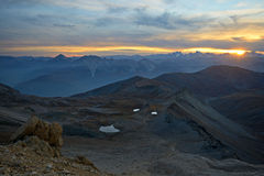 Magic twilight at high altitude Stock Photography
