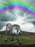 Magic unicorn Stock Image