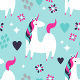 Magic Unicorn Pattern Royalty Free Stock Image