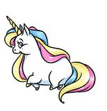 Magic unicorn rainbow mane cartoon illustration Stock Photos