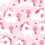 Magic Unicorn seamless pattern. Modern fairytale endless textures, magical repeating backgrounds. Cute baby backdrops Stock Image