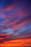Magic Unreal Sunrise. Magic Unreal Colorful Sky at Sunrise Stock Photo