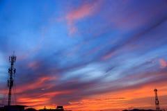 Magic Unreal Sunrise. Magic Unreal Colorful Sky at Sunrise Royalty Free Stock Image
