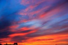 Magic Unreal Sunrise. Magic Unreal Colorful Sky at Sunrise Royalty Free Stock Photo