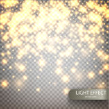 Magic vector luminous background. Shine particles isolated on transparent background. Dust cloud with glow light. Luxury decoration for design. Vector Royalty Free Stock Photo