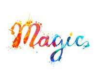 Magic. Vector splash paint letters. Magic. Vector inscription of splash paint letters stock illustration