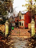 Haunted countryside house in English autumn Stock Photo
