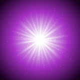 Magic violet light-01 Stock Images
