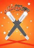 Magic Wand. Vectorel magic wand to draw Royalty Free Stock Images