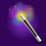 Magic wand. Illustration of an magical wand Stock Photography