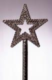 Magic Wand. Silver star magic wand Royalty Free Stock Photos