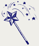 Magic wand. Doodle style. Vector Stock Photography