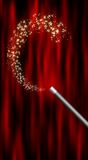 Magic Wand. With sparkles illustration Stock Image