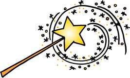 Magic wand Stock Photo